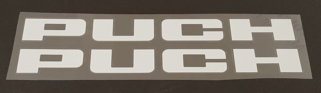 Puch Down Tube Decals - 1 Pair Cut Vinyl - Choose Color