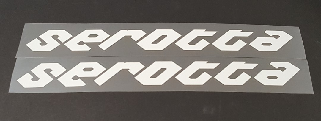 Serotta Down Tube Decals--1 Pair Large - Cut Vinyl--Choice of color