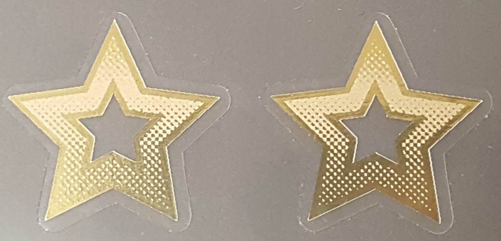 Kogswell Gradient Seat Tube Star Decals - 1 Pair - Mirror Gold Outline