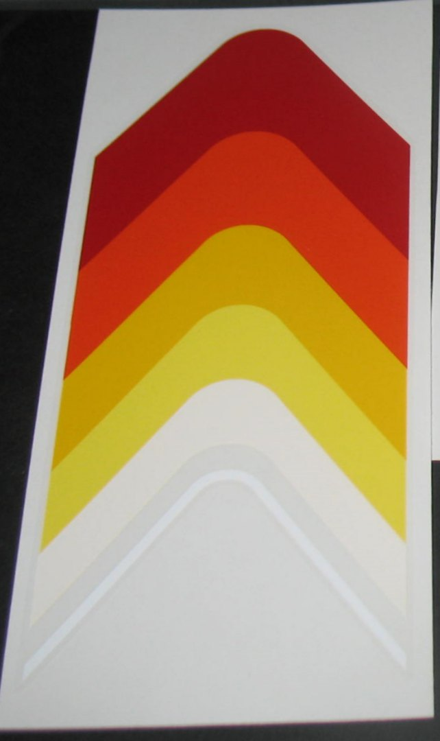 Peugeot  Chevron Top Tube Decal - Inverted