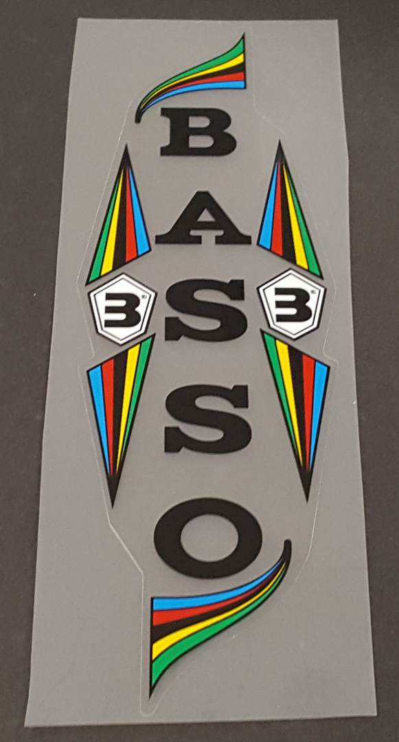 Basso Classic Seat Tube Wrap Decal - Choose Color