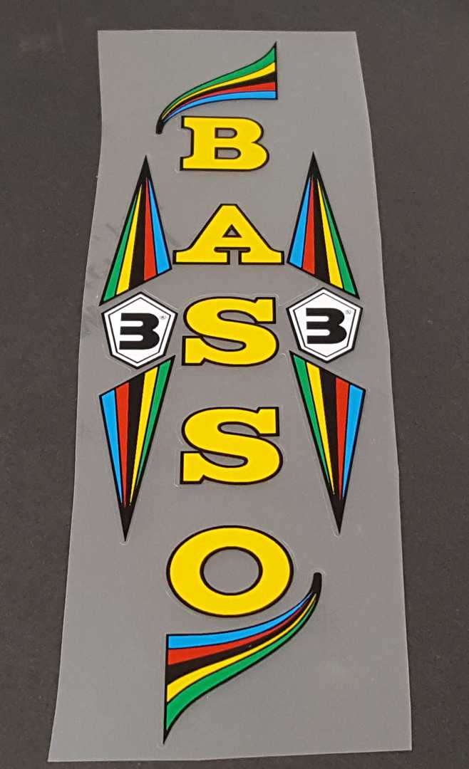 Basso Classic Seat Tube Wrap Decal w/Outline - Choose Color