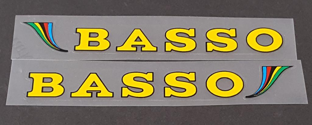 Basso Stay Decals w/Colored Accent  - 1 Pair - Choose Color