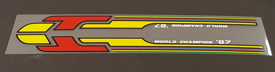 Battaglin Carrera Top Tube Decal  - Choose Colors