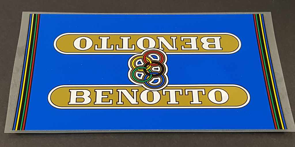 Benotto Down Tube  Wrap Decal - Blue Background