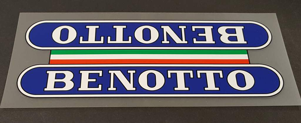 Benotto Down Tube Wrap Decal