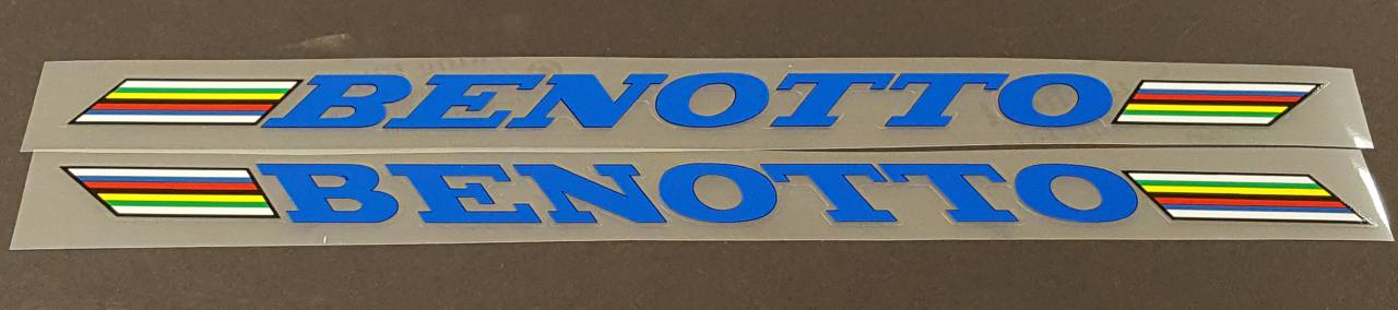 Benotto Down Tube Decals - 1 Pair - Choose Color