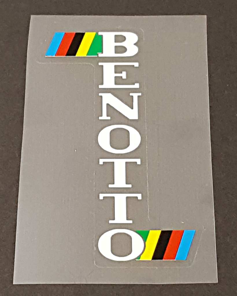 Benotto Head Badge Decal w/ Olympic colors