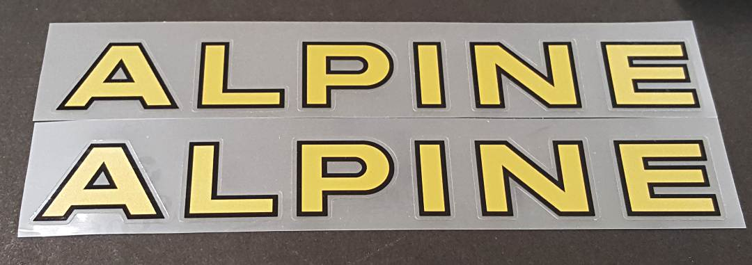 Alpine Down Tube Decals  #3- 1 Pair - Choose Colors