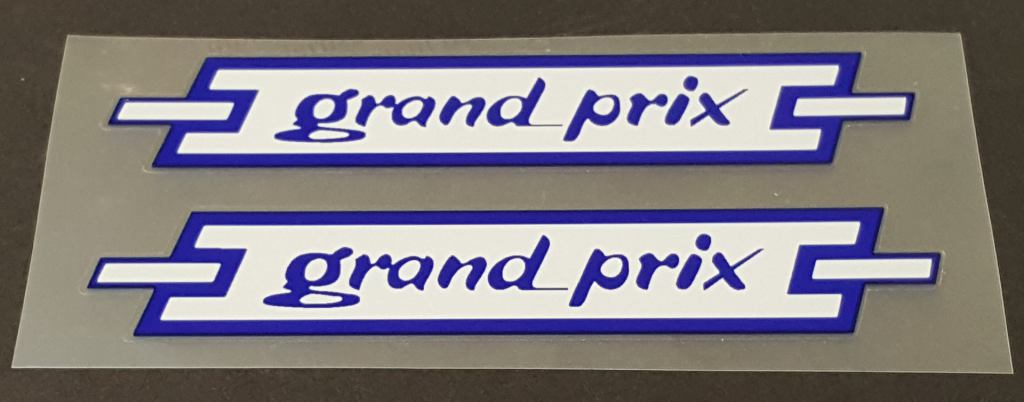 Atala Grand Prix Top Tube Decals - 1 Pair - Blue on White