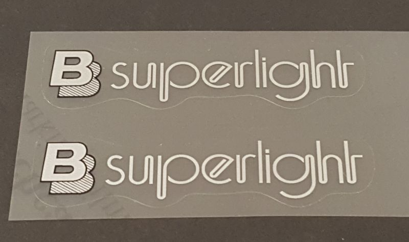 Bertoni Superlight Top Tube Decals - 1 Pair - Choose Color