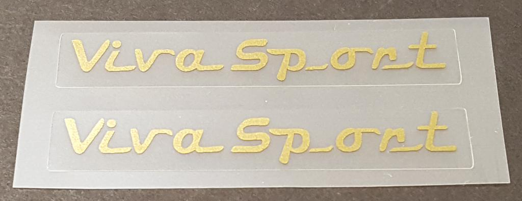 Italvega Viva Sport Top Tube Decals - 1 Pair - Choose Color