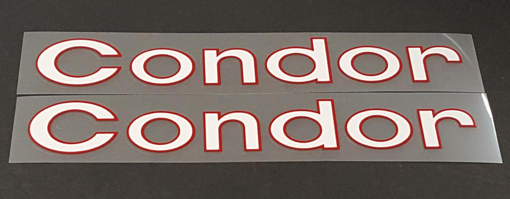 Condor  Down Tube Decals - 1 Pair - Choose Colors