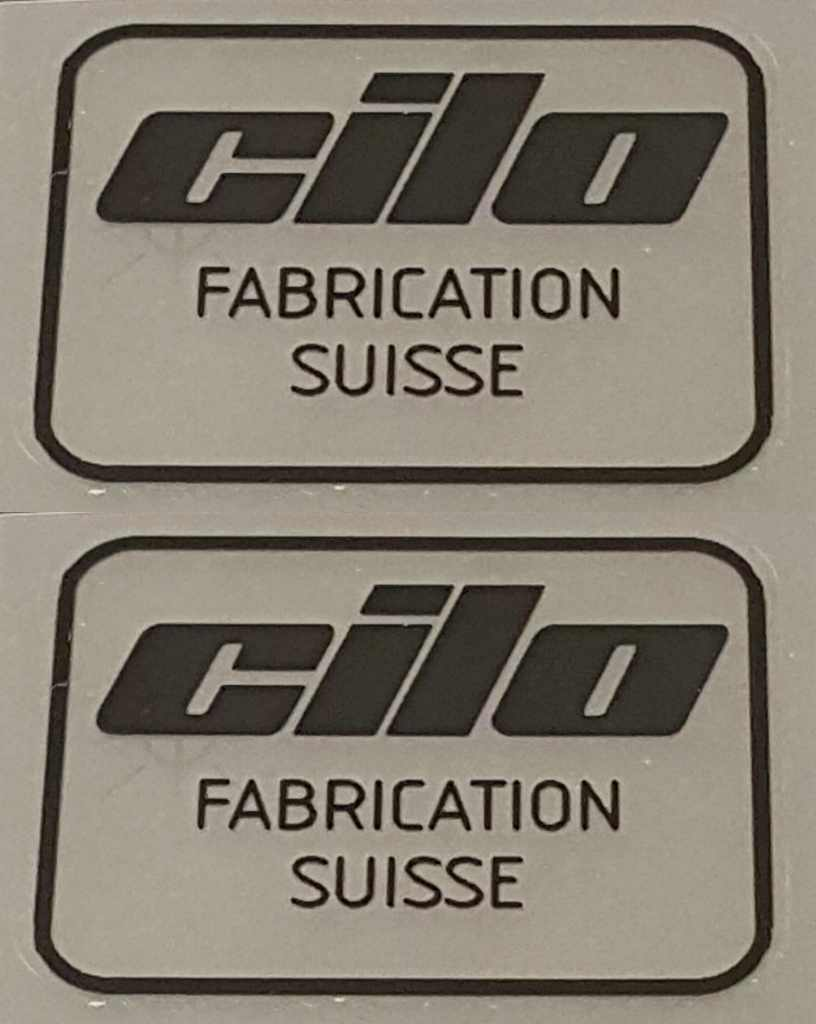 Cilo Fabrication Suisse Decals - 1 Pair