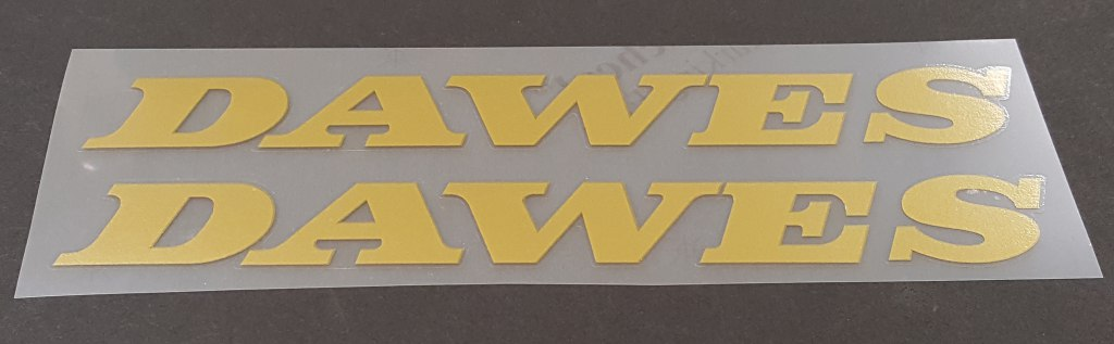 Dawes Down Tube Decals - 1 Pair - Choose Color