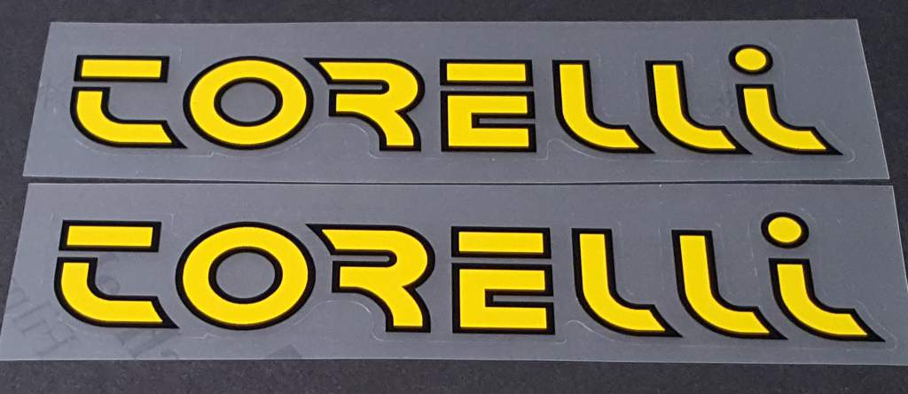 Torelli Down Tube Decals - 1 Pair - Choose Color