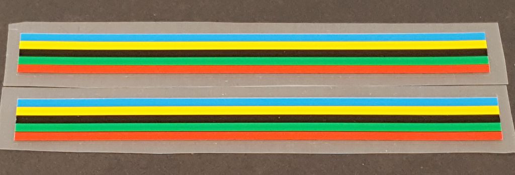 Derycke Colored Bands - Narrow - 1 Pair