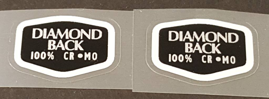 Diamond Back Cr-Mo Tubing Decal - 1 Pair