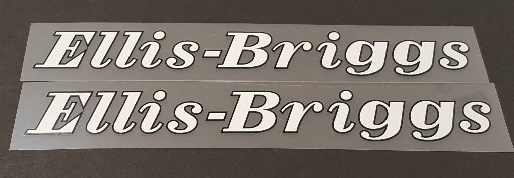 Ellis-Briggs Bicycle Down Tube Decals - 1 Pair - Choose Colors