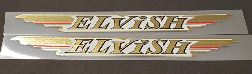 Elvish Bicycle Down Tube Decals - 1 Pair - Mirror Gold