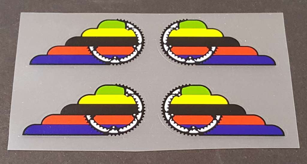Faggin Bicycle Down Tube Decals - Set of 4