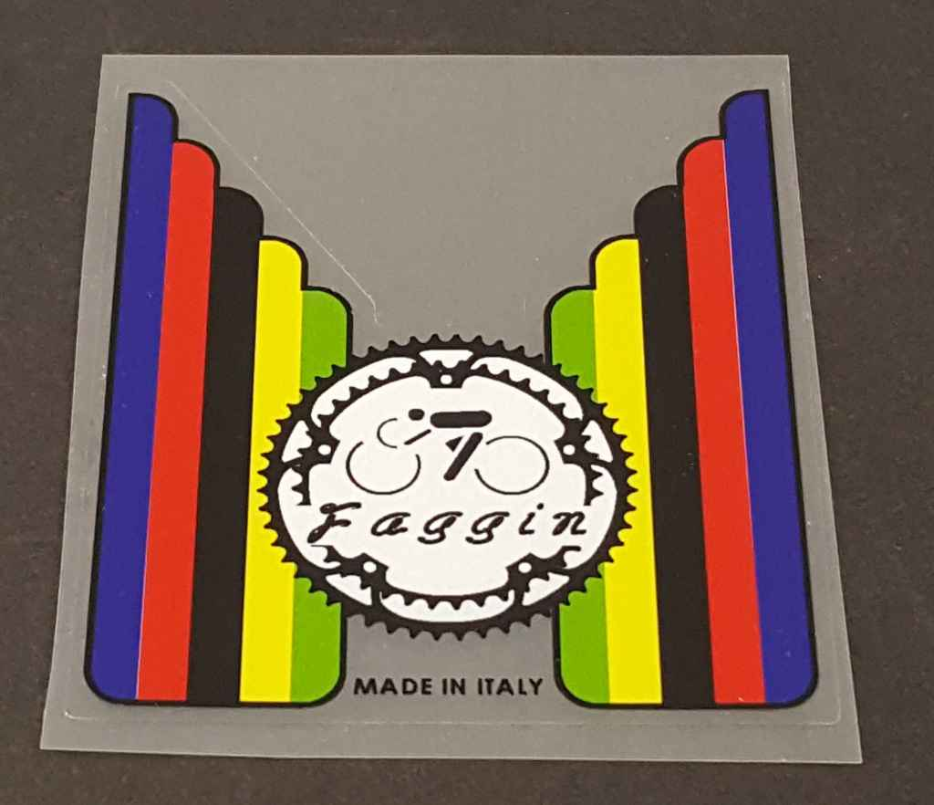 Faggin Bicycle Gear/Stripes Seat Tube Decals - 1 Pair
