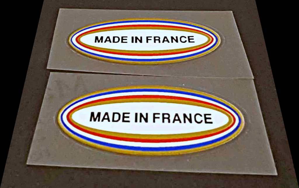 Made in France Decals - 1 Pair - Fancy Oval Small