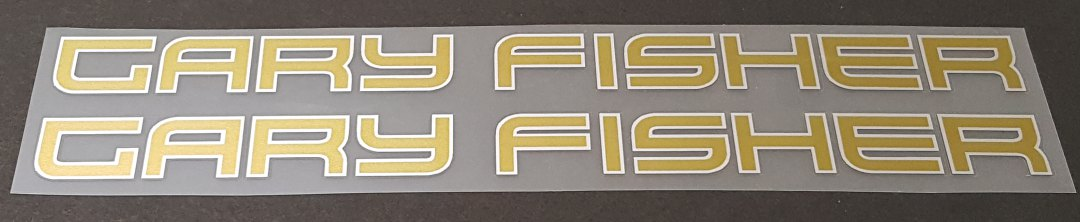 Gary Fisher Bicycle Down/Seat Tube Decals - 1 Pair - Choose colors