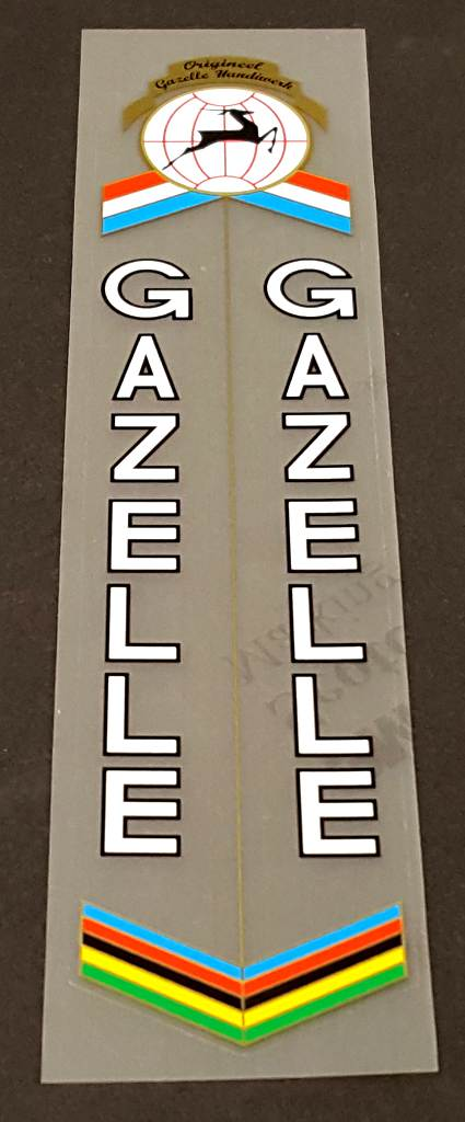 Gazelle Bicycle Seat Tube Wrap Decal - Choose Color