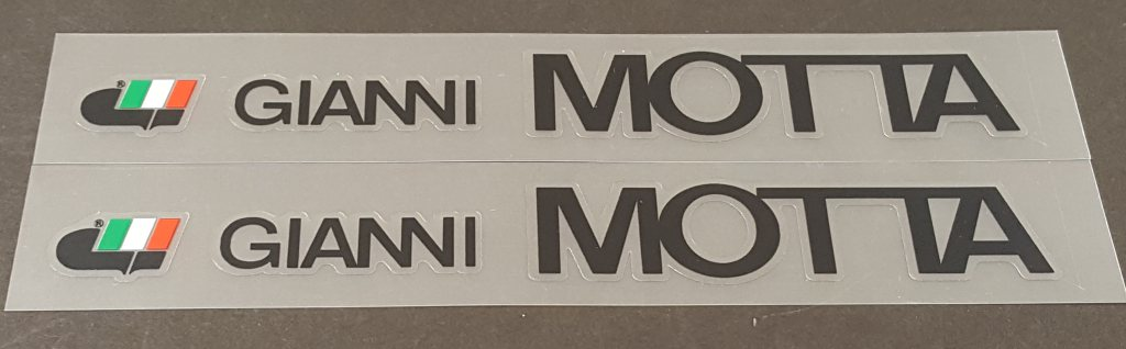 Gianni Motta Bicycle Down Tube Decals - 1 Pair - Choose Color