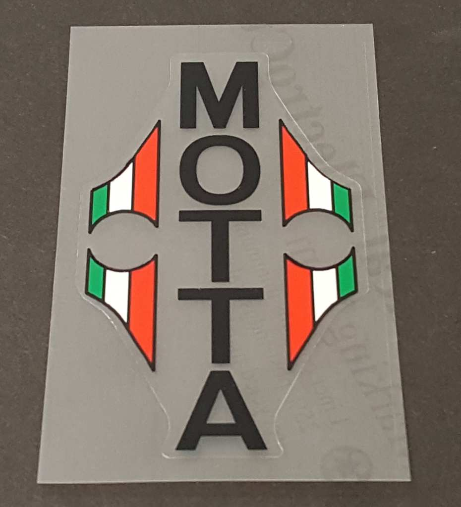 Gianni Motta Bicycle Head Badge Decal - Choose Color