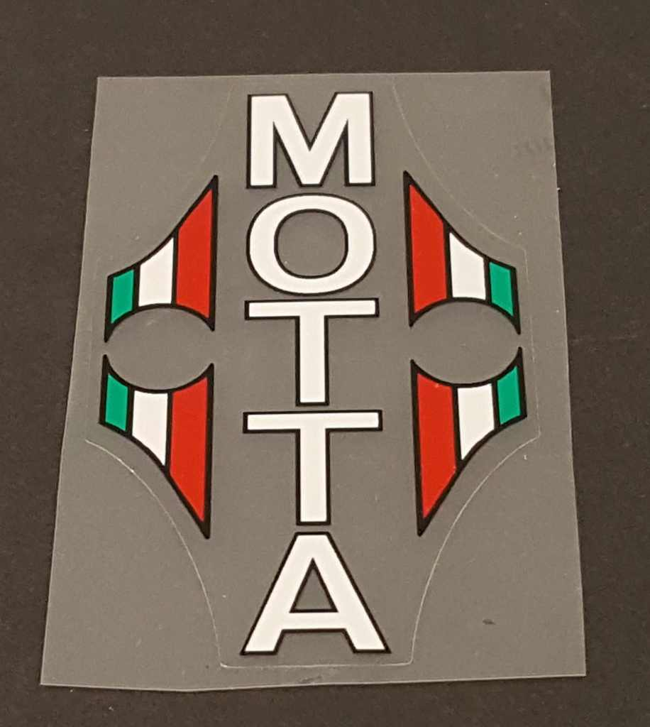 Gianni Motta Bicycle Head Badge Decal w/outline - Choose Color