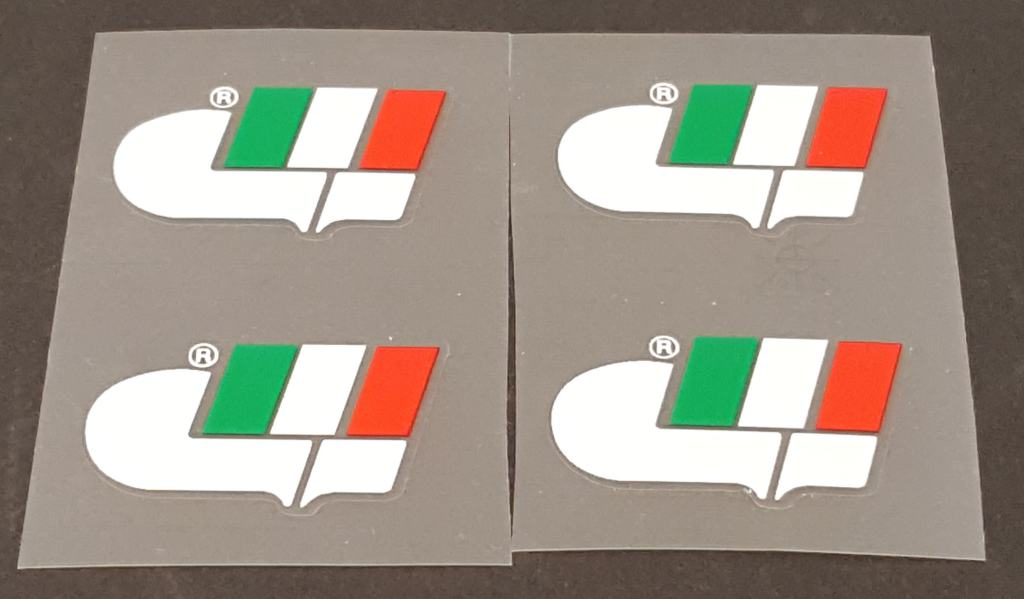 Gianni Motta Bicycle Logo Decals - Set of 4 - Choose color / Size
