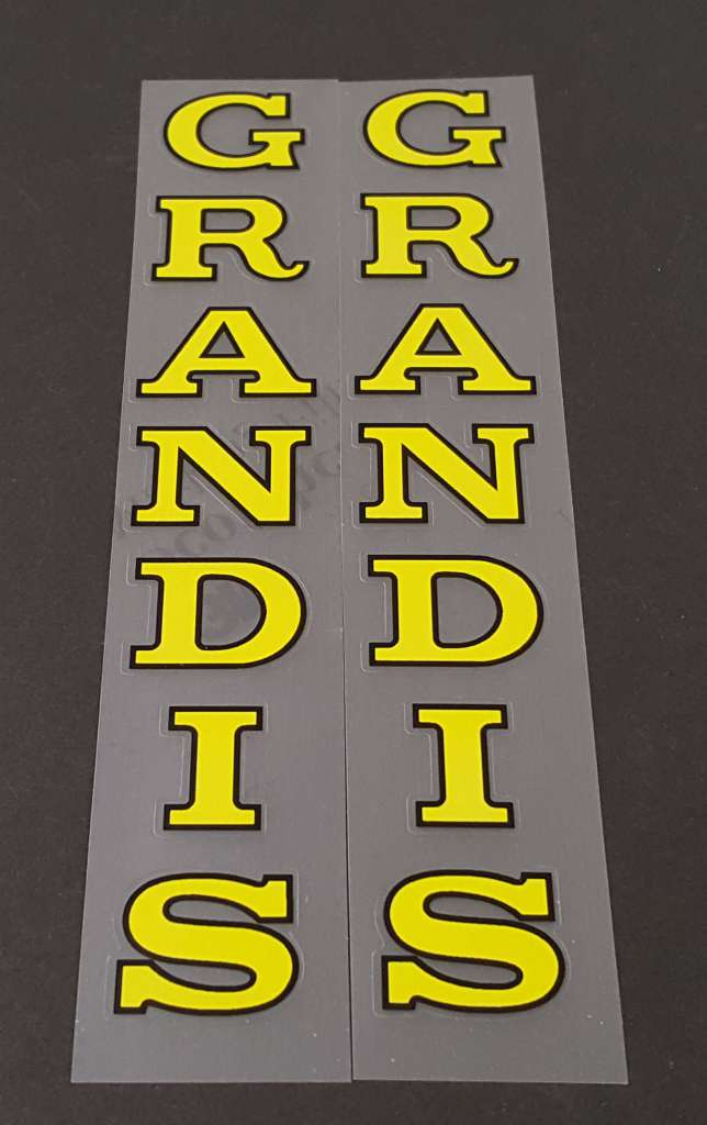 Grandis Bicycle Seat Tube Decals - 1 Pair - Choose Colors