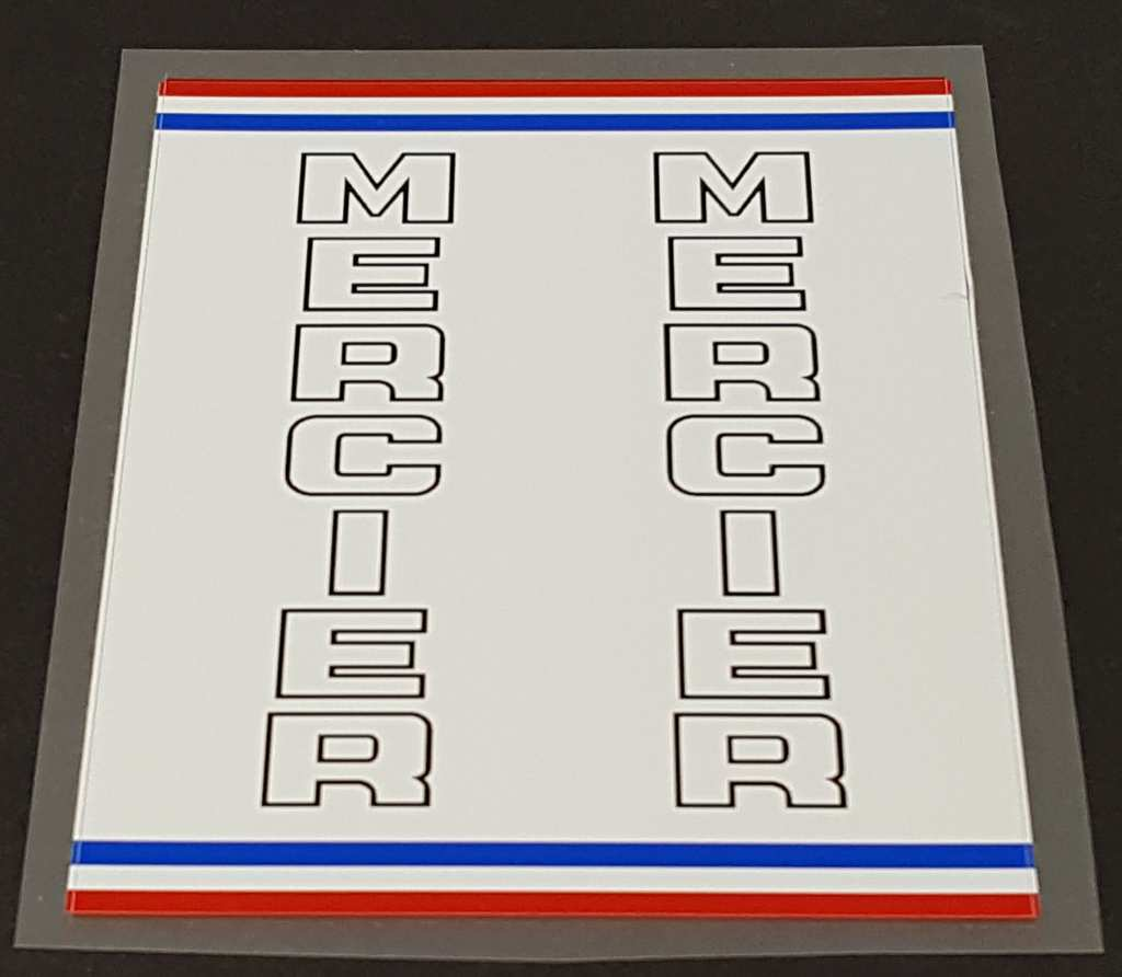 Mercier Bicycle Mixte Seat Tube Wrap Decal