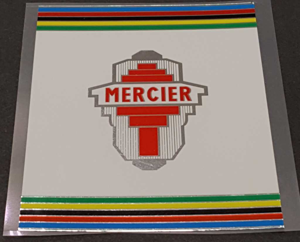Mercier Bicycle Mixte Chrome Seat Tube Wrap Decal with Olympic Stripes