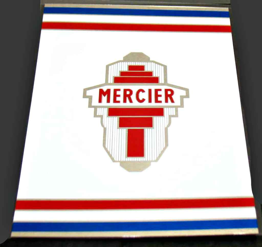 Mercier Bicycle Mixte Chrome Seat Tube Wrap Decal with Red/White/Blue Stripes