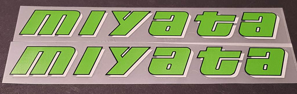 Miyata Down Tube Decals - Ultra Thin 1mil Vinyl - Half Price