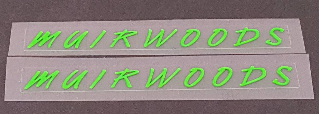 Marin Muirwoods Bicycle Top Tube Decals - 1 Pair - Choose Color