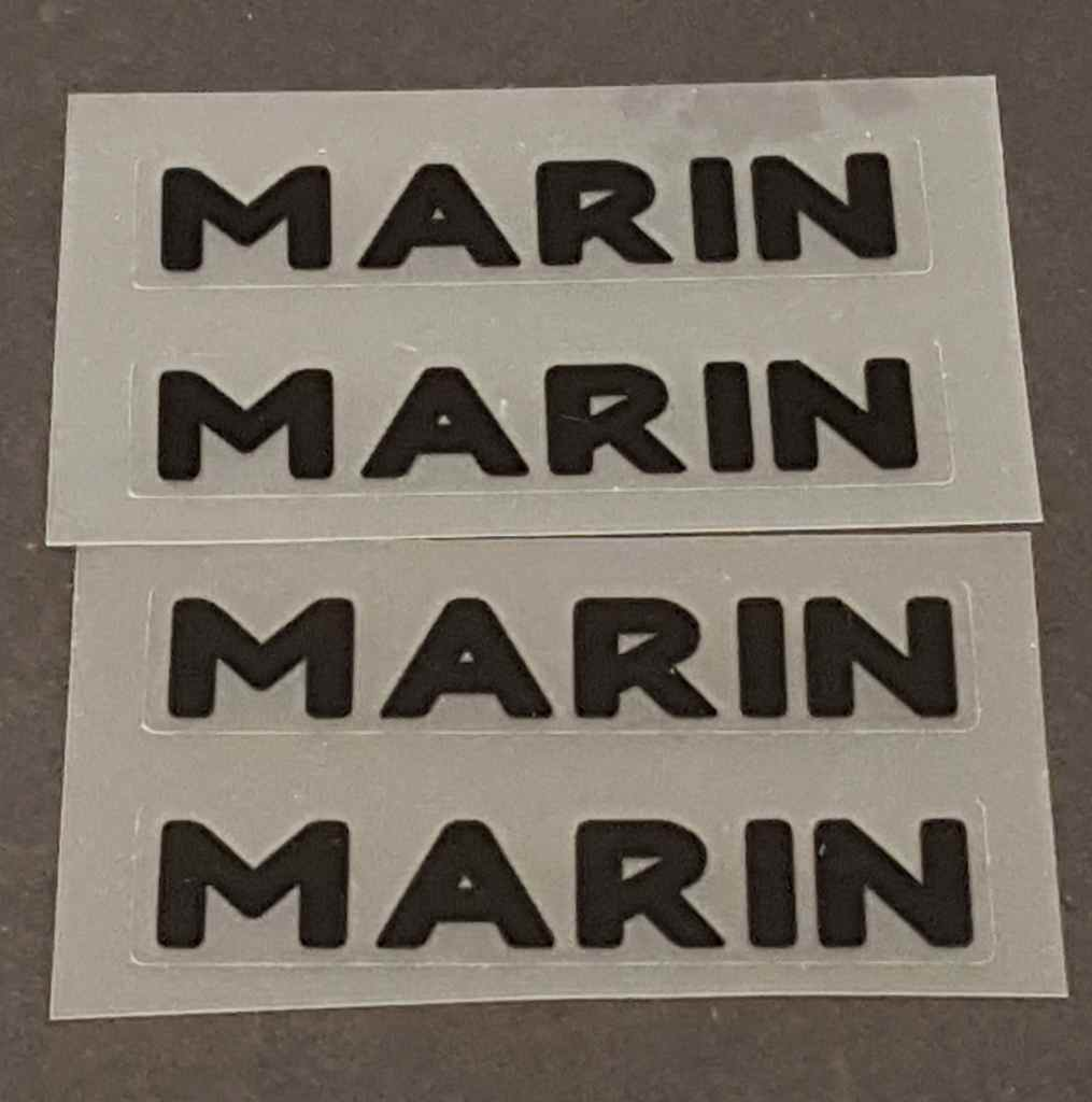 Marin Bicycle Stay Decals - 2 Pair - Choose Color