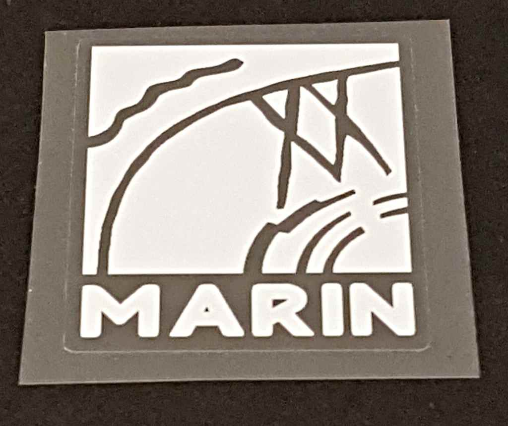 Marin Bicycle Head Badge Decal - Choose Color
