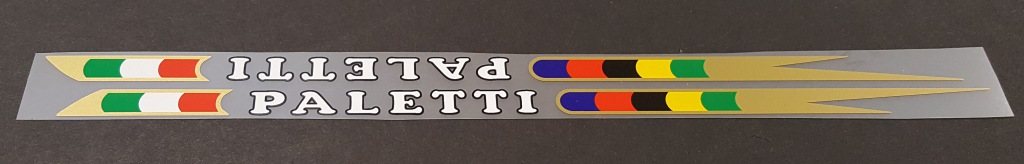Paletti Bicycle Down Tube Decals - 1 Pair