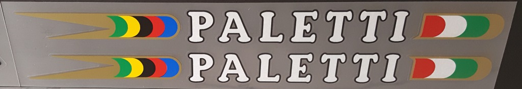 Paletti Bicycle Large Down Tube Decals - 1 Pair