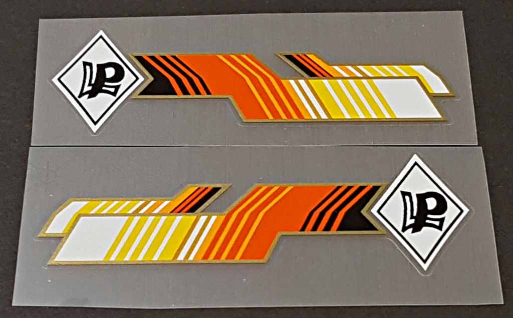 Paletti Bicycle Decorative Down Tube Decals - 1 Pair