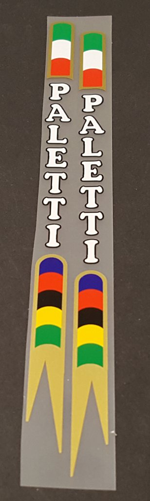 Paletti Bicycle Seat Tube Decals - 1 Pair