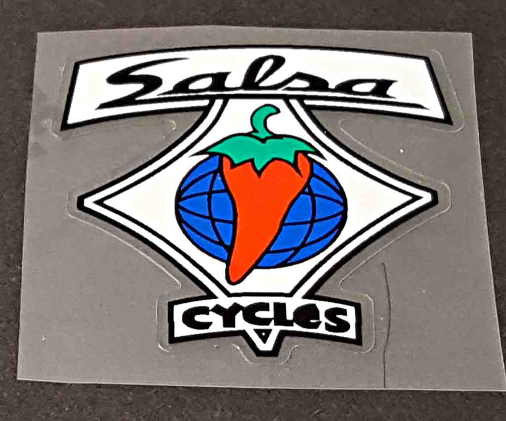 Salsa Bicycle Head Badge Decal - Choose Background Color