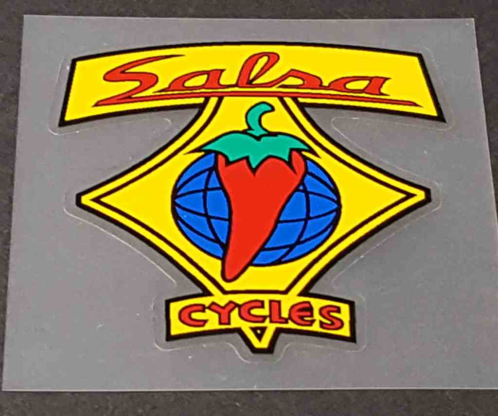 Salsa Bicycle Head Badge Decal - Yellow
