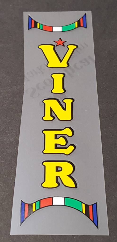 Viner Bicycle Seat Tube Decal--Choose Color
