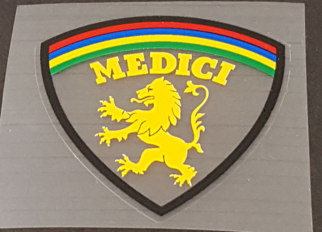 Medici Bicycle Head Badge Decal - Choose Color