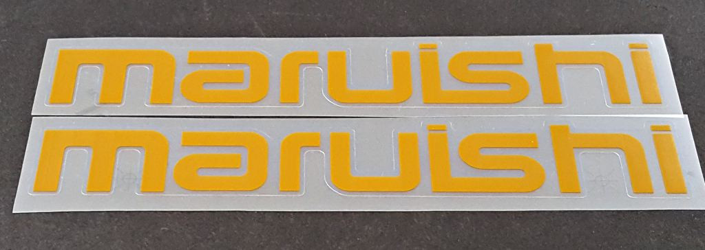 Maruishi Bicycle Down Tube Decals - 1 Pair - Choose Color